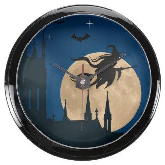 Escena de la noche de Halloween Reloj Aquavista