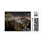 Escena de la noche de Hong Kong, el pico, sello