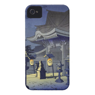 Escena de la noche de la capilla Asano Takeji de iPhone 4 Protector
