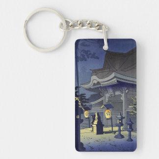 Escena de la noche de la capilla Asano Takeji de K Llavero Rectangular Acrílico A Doble Cara