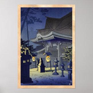 Escena de la noche de la capilla Asano Takeji de K Póster