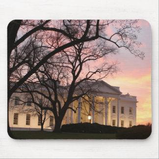 Escena de la noche de la Casa Blanca Alfombrillas De Ratón