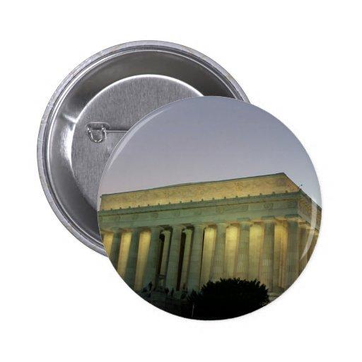 Escena de la noche de Lincoln Memeorial Pin