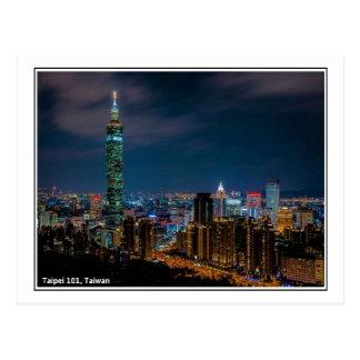 Escena de la noche de Taipei 101, Taiwán Postal