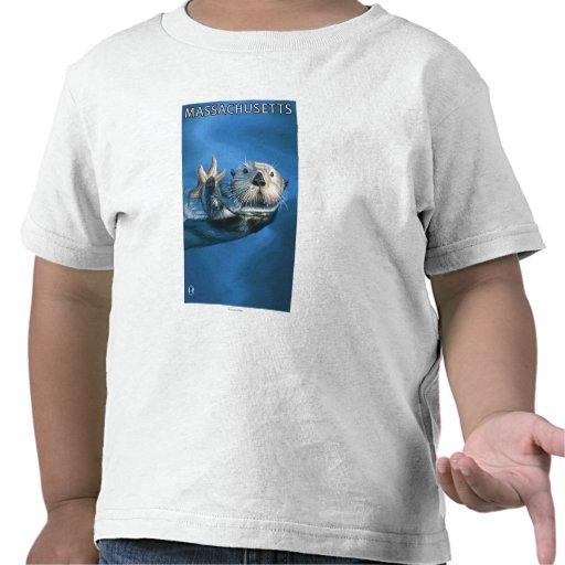 Escena de la nutria de MassachusettsSea Camisetas