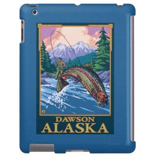 Escena de la pesca con mosca - Dawson, Alaska Funda Para iPad