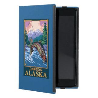 Escena de la pesca con mosca - Dawson, Alaska iPad Mini Cárcasa