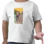 Escena de la pesca con mosca de VermontWomen Camiseta