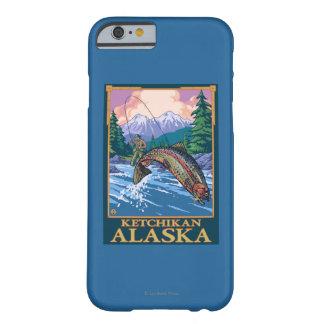 Escena de la pesca con mosca - Ketchikan, Alaska Funda De iPhone 6 Barely There