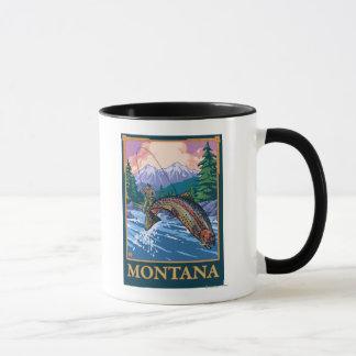 Escena de la pesca con mosca - Montana