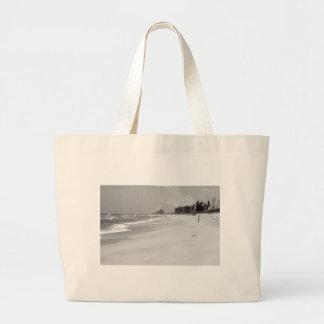 Escena de la playa bolsa de mano