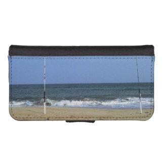 Escena de la playa con el trole billetera para iPhone 5