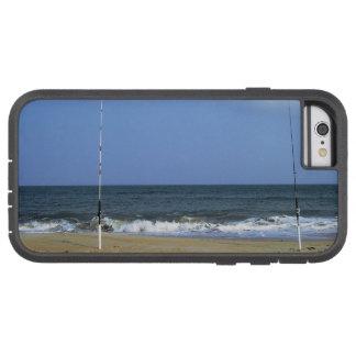 Escena de la playa con el trole funda tough xtreme iPhone 6