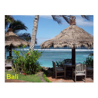 Escena de la playa de Bali Postal