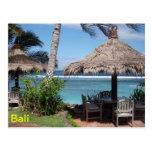 Escena de la playa de Bali Tarjetas Postales