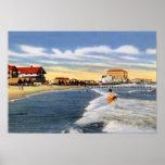 Escena de la playa de Cape May New Jersey Posters