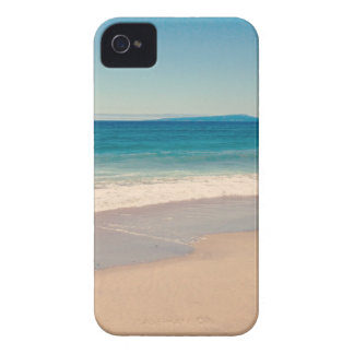 Escena de la playa de la aguamarina iPhone 4 Case-Mate fundas
