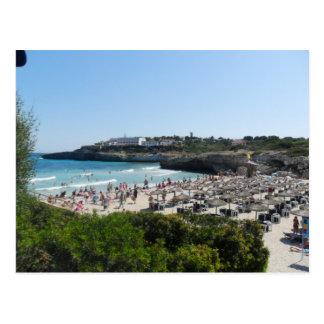 Escena de la playa de Majorca Tarjetas Postales