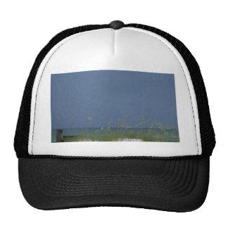 Escena de la playa del golfo gorros bordados