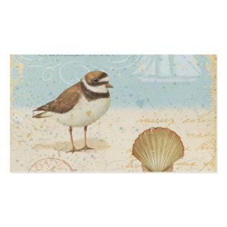 Escena de la playa del vintage tarjetas de visita