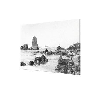 Escena de la playa en la playa del cañón, fotograf impresión en lienzo estirada