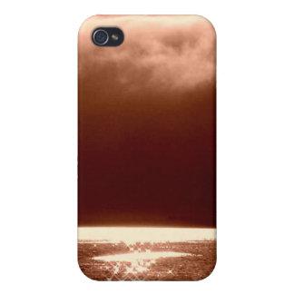 Escena de la playa - estrellas que bailan en el ag iPhone 4/4S carcasas