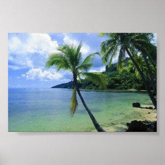 Escena de la playa impresiones