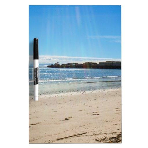 Escena de la playa pizarra