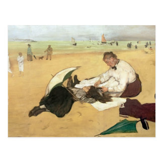 Escena de la playa postales