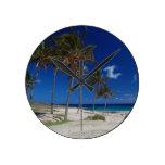 Escena de la playa reloj