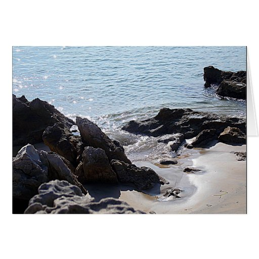 Escena de la playa - siga sus sueños tarjeta pequeña
