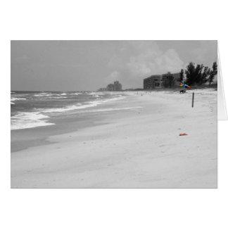 Escena de la playa tarjeta de felicitación