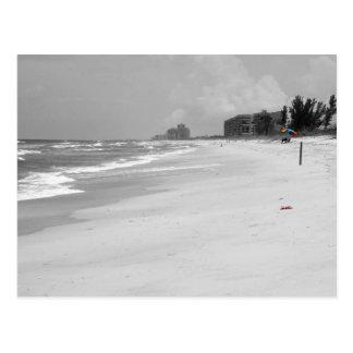 Escena de la playa tarjetas postales