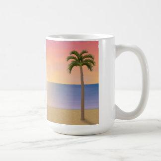 Escena de la puesta del sol/de la playa de la sali tazas