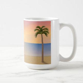 Escena de la puesta del sol/de la playa de la sali tazas de café