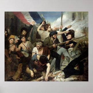 Escena de la revolución 1830 póster