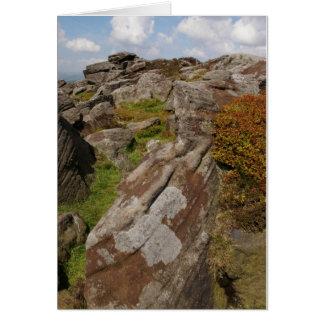escena de la roca de Derbyshire, por sjohn. Tarjeta De Felicitación