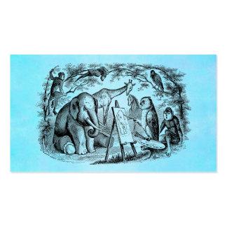 Escena de la selva de los 1800s del elefante de la tarjeta de negocio