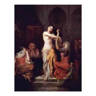 Escena de la señora In Bath del Harem del Moorish Flyer Personalizado