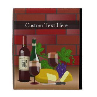 Escena de la tabla del queso del vino
