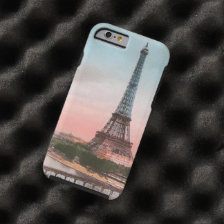 Escena de la torre Eiffel del vintage Funda Para iPhone 6 Tough