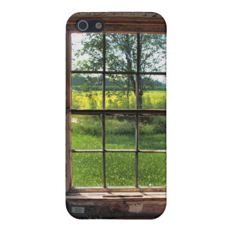 escena de la ventana de cabaña de madera del iPhon iPhone 5 Protector