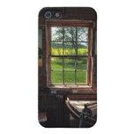 escena de la ventana de cabaña de madera del iPhon iPhone 5 Funda