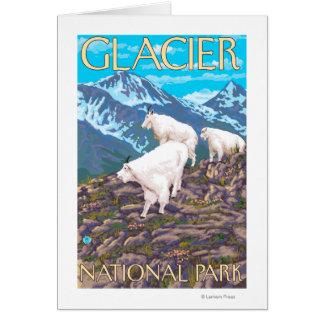 Escena de las cabras de montaña - Parque Nacional  Tarjeta De Felicitación