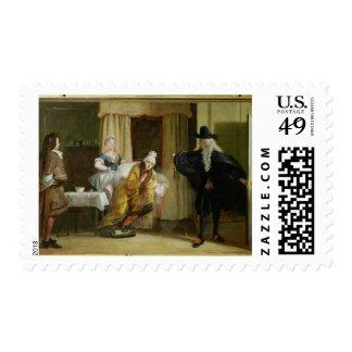 "Escena de ""Le Malade Imaginaire"" por Moliere (1622 Sello"