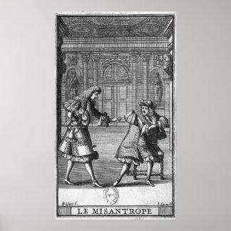 Escena de 'Le Misanthrope' Poster