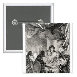 """Escena de """"L'Ingenu"""" por Voltaire Pin Cuadrada 5 Cm"""