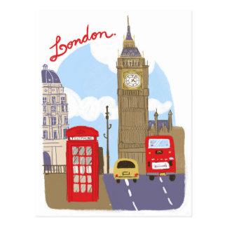 Escena de Londres Postales