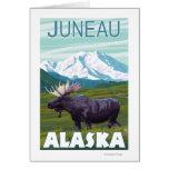 Escena de los alces - Juneau, Alaska Tarjetón