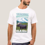 Escena de los alces - Skagway, Alaska Playera
